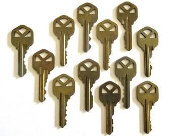 Keys Key collection 12 Vintage stamping keys Antique keys DIY Stamping keys House keys Old keys for stamping Blank keys Blank side A1 #33