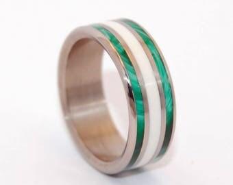 Titanium wedding ring, wedding band, concrete ring, men's ring, woman's ring, titanium ring, stone ring, wedding ring - WELLS OF TRUTH