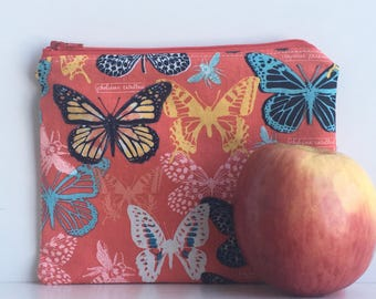 Reusable Sandwich Bag, Makeup Bag, Food Bag, Kids Snack Bag Butterfly