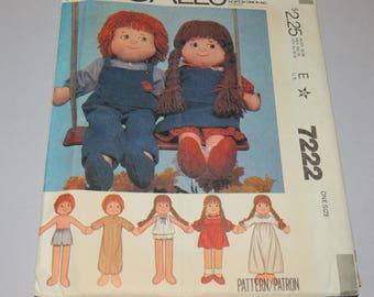 Uncut Rag Doll pattern McCalls 7222