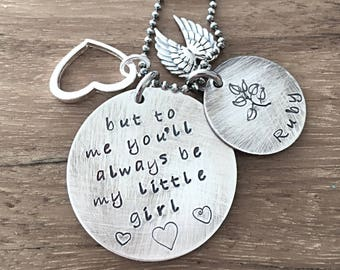 Mother Daughter Necklace, Hand Stamped Copper Necklace, Personalized Jewelry, Childrens Names