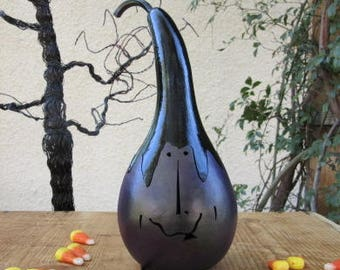 Halloween Gourd Witch Jack O Lantern Primitive Pumpkin Decoration