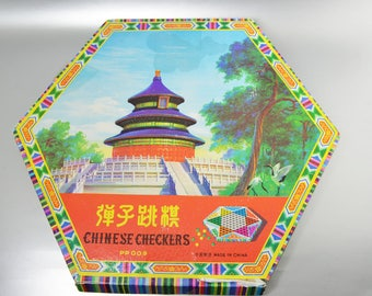 Vintage Chinese Checkers PP009 Board Games from 1960s Chinese Temple