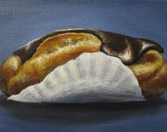 Eclair - original daily painting by Kellie Marian Hill
