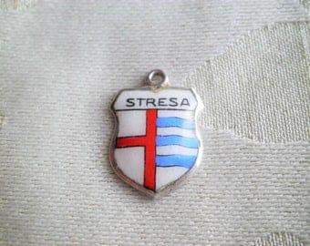 Vintage 800 Silver Stresa Italy Travel Shield Charm