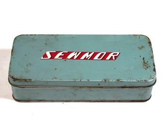 Vintage Sewmor Tin - Sewing Box