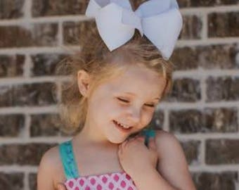 """5 Texas Size Super Large Hair Bows 3"""" Wide Ribbon ~ Cheer Bow ~ Choose Colors ~ m2m Matching Matilda Jane The Adventure Begins BIG"""