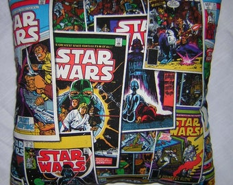 New * STAR WARS * Comic Book Covers * Cotton Fabric Pillow - Handmade in the U.S.A.