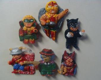 Earth 2 Super Heroes Team Magnet(Fullbody/cutie style) Set A