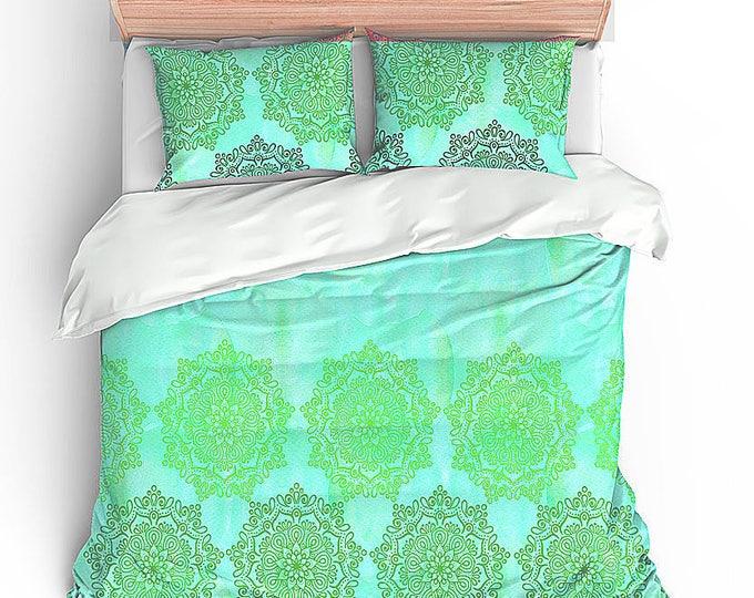 Duvet Bedding Set, Boho Chic Bedding, Mandala Bedding, Modern Home Decor, Dorm Decor, Hippie Chic, Hippie Style, Graduation Gift, Teen Gift