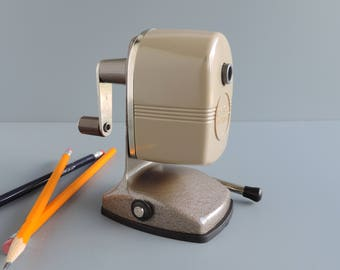 Vintage Berol Mechanical Pencil Sharpener, Suction Vacuum Mount, Danbury Connecticut, Made in USA, Desk and Office Accessory