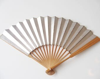 Hand Fan Summery Sensu Fan From Japan Gold Silver