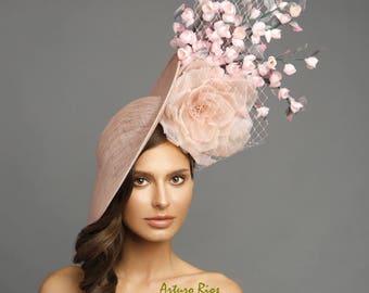 Blush pink fascinator, derby fascinator , kentucky derby fascinator , derby hat