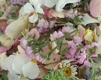 Dried Flowers, Wedding Confetti, Craft Supply,  Lavender,  Wedding Decorations, Aisle Decor, Table, Petals, Lavender, 8 US Cups Confetti