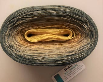 CUSTARD  -- 150 gr/720 yards -- Color Changing Cotton yarn   Fingering Weight