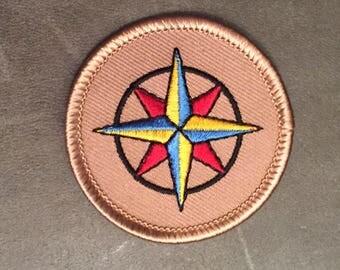 Navigation Compass Merit Badge Patch