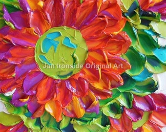 Original Oil Painting , Fine Art, Impasto Painting, Bright floral