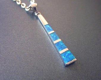 SALE Opal Sterling Pendant Necklace Opal Jewelry