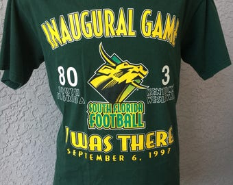 University of South Florida Bulls Innaugrual Football Game 1997 vintage t-shirt size large