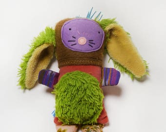 HAPIlAPI Stuffed Bunny Plush Toy made from upcycled materials