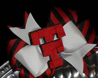 Double-T Striped Bow