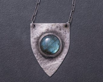 Sterling shield necklace
