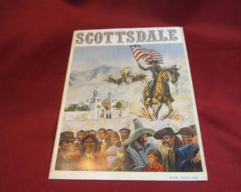 Vintage 1965 SCOTTSDALE Arizona State Travel Brochure AD Souvenir Pamphlet, Travel Guide, Mid Century Magazine, Tourist Guide, Arizona Guide