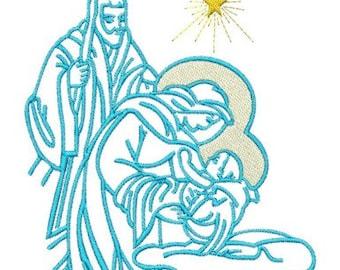 Embroidery Machine File  06023-03-05 Nativity