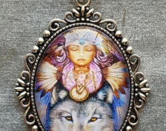 Lady & Wolf Pendant