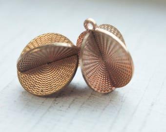 RESERVE LISTING FOR joannewellesley ** 50 pieces** Vintage 1960s 3D Disc Brass Pendants//