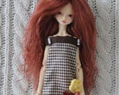 RESERVED listing for Amélie - mohair wigs for Cerisedolls Chibi Lana and HeartStrung Ruse
