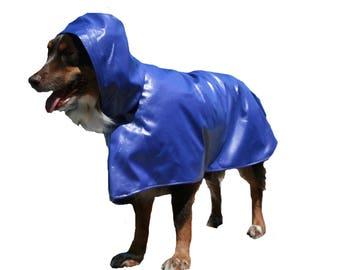 Dog Raincoat, hooded dog coat, unlined dog raincoat, custom dog coat, lightweight dog raincoat