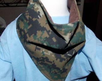 Camouflage  Baby Bandanna Bib/Drool Catcher