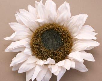 Jumbo Cream White Sunflower - Artificial Flowers, Silk Flower Heads