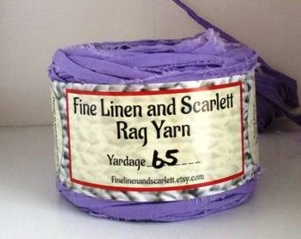 Rag yarn, Rug making, Knitting, Crochet, Fiber Arts supplies, Wisteria Purple