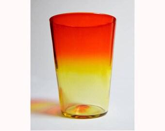 vintage BLENKO #366 TANGERINE beaker vase