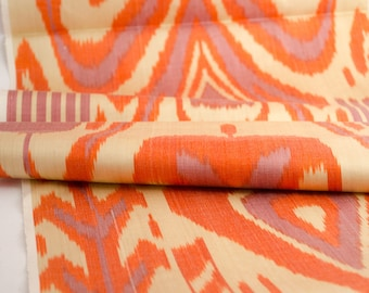 orange ikat fabric by the yards
