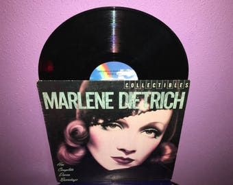 Vinyl Record Album Marlene Dietrich - Her Complete Decca Recordings LP 1982 Classic Hollywood 1930s 1940s