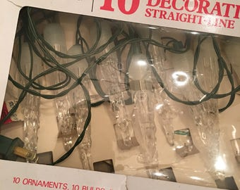 Vintage Sears Christmas Tree Lights ~ Vintage Icicle Lights ~ Holiday Decor ~ Christmas Decorations ~ Vintage Christmas Lights