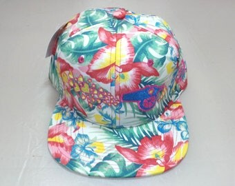 Snapback Flat-Brim Hat - 3D Love Cannon (One-of-a-kind)
