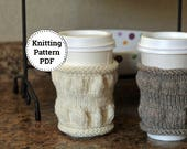 Knitting Pattern   Cup Cozy Pattern   Knitted Cup Cozy   Tea Cozy   Coffee Cozy   Squoosh   Knitted Tea Cozy