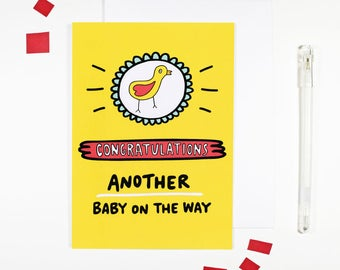 Congratulations Another Baby On The Way Card Pregnancy Card