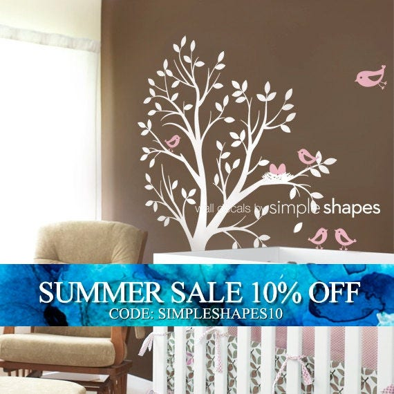 Kids Wall Decal - THE ORIGINAL Tree with Birds and Nest