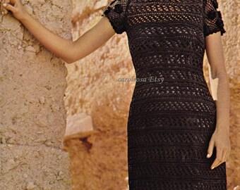 PDF Crochet Pattern - Crochet Dress Summer Evening Glamour Cruisewear Womens