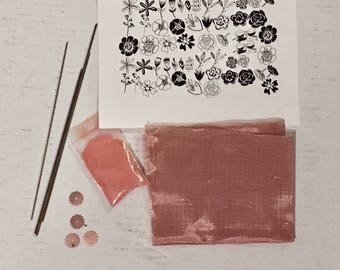 """Craftsy Kit, Thompson Enamel, Copper Mesh, Ceramic Decal, Mandrel,  for """"Luscious Color and Design"""" By Barbara Lewis"""