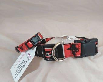 Texas Tech Dog Collar, Texas Tech University, Texas Tech Cat Collar,Collier de chien, collar de perro,