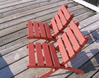 Classic Cedar Folding Chair - Storable - Beach - Garden - Patio - Outdoor Furniture handcrafted by Laughing Creek