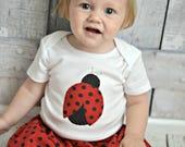 Custom Listing Girls Black and Red Polka Dot Skirt