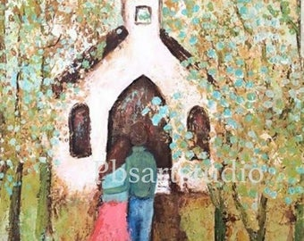 Going To The Chapel- Canvas Print