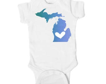 Michigan State Love Baby Onesie